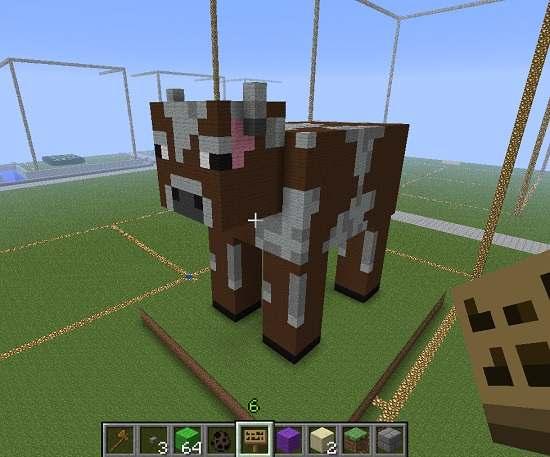 Krowa stworzona w Minecrafcie Źródło: www.3dprintplan.com