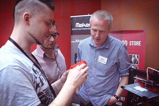 Paweł Ślusarczyk Centrum Druku 3D, Piotr Gurga MakerBot i Paweł Lewiński