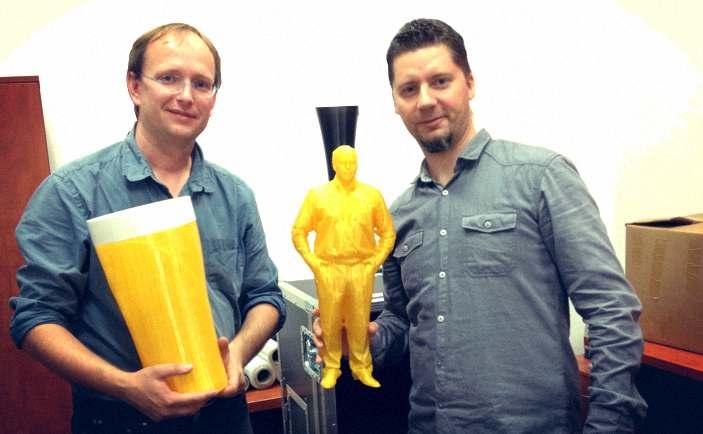 Remi Piechura (3D Builder Polska) i Paweł Ślusarczyk (CD3D)