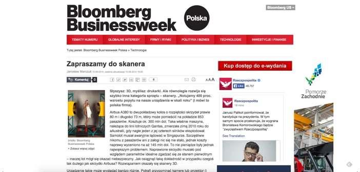 Bloomberg skanowanie 3D