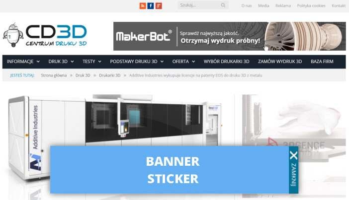 BANNER STICKER