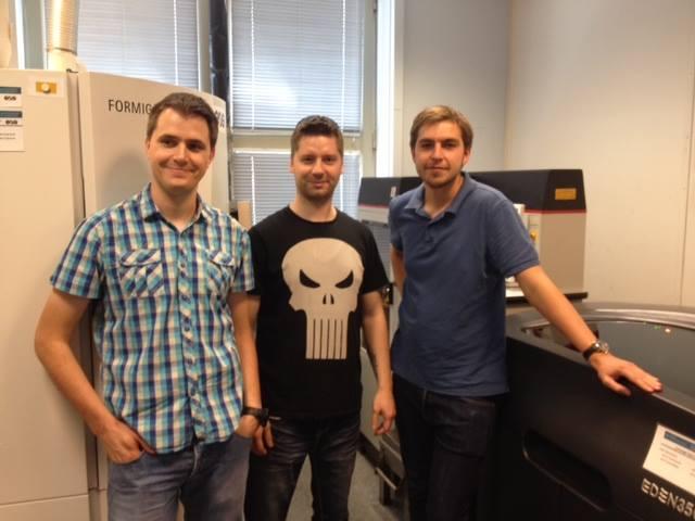 Gustaw Koenig (Rapid Troopers), Paweł Ślusarczyk (CD3D) i Michał Olejarczyk (Rapid Troopers) - lipiec 2015 r.
