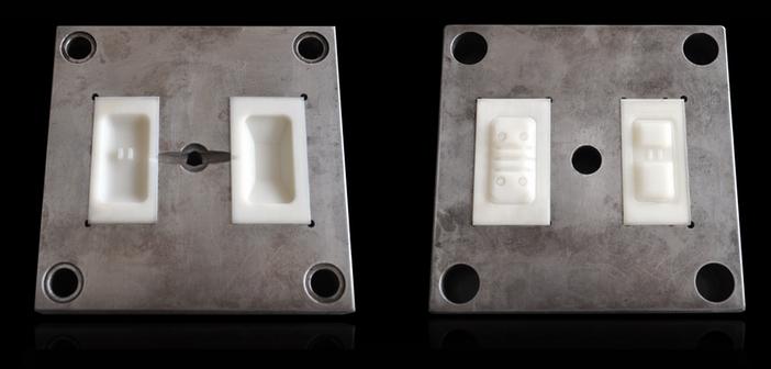 Forma wtryskowa z wydrukowanymi wkładkami