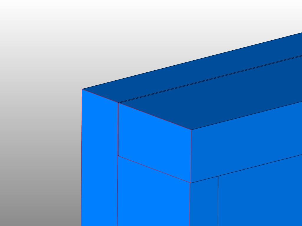 Na powiększeniu widać szczelinę, po wydruku taki model się rozpadnie lub pojawią się problemy na etapie drukowania