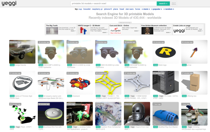 TOP 10 – websites with free STL models | 3D Printing Center