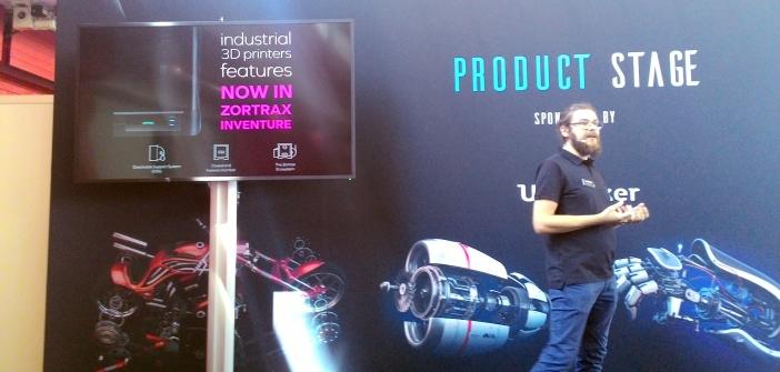 Bartek Cymer - Dyrektor Marketingu Zortrax podczas prezentacji nowości w ofercie firmy w Amsterdamie