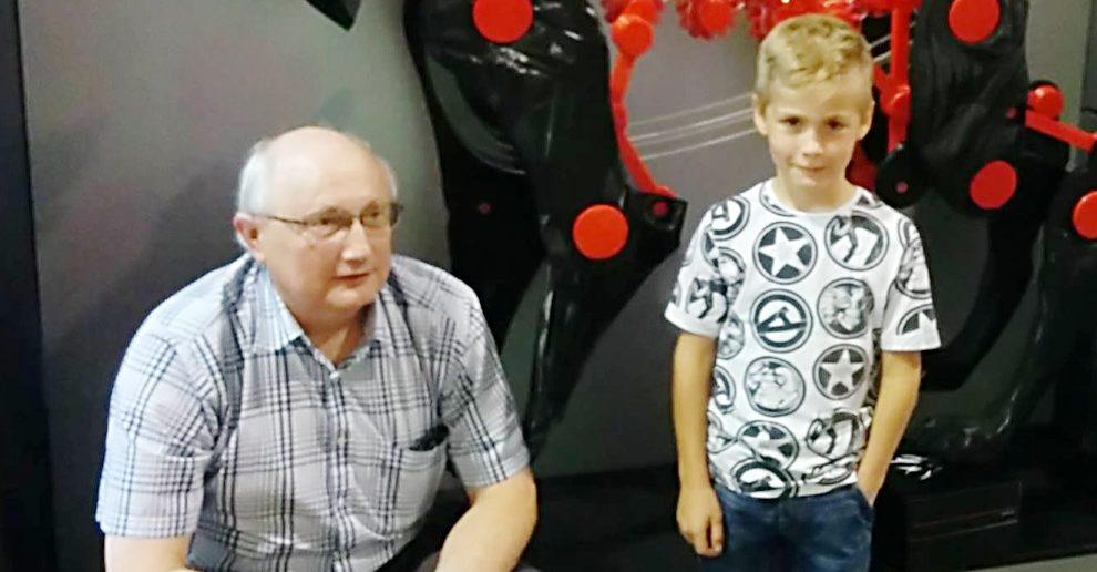 Krzysztof Grandys i jeden z jego pacjentów