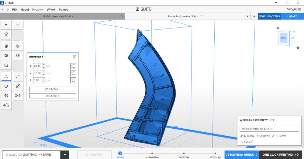 Program do drukarki 3D